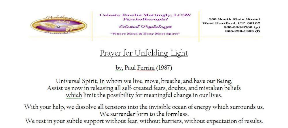 Prayer for Unfolding Light - Paul Ferrini (1/3)